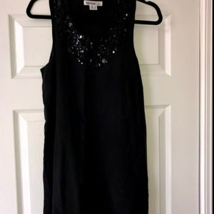 Kensie Dress Black and Gray w/ Sequins Size Small